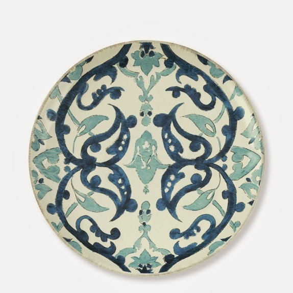 Turkish tile inspired salad plate