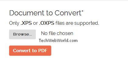 convert xps in pdf