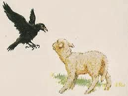 fábula el águila, el cuervo y el pastor, fabulas de Esopo para niños con moraleja