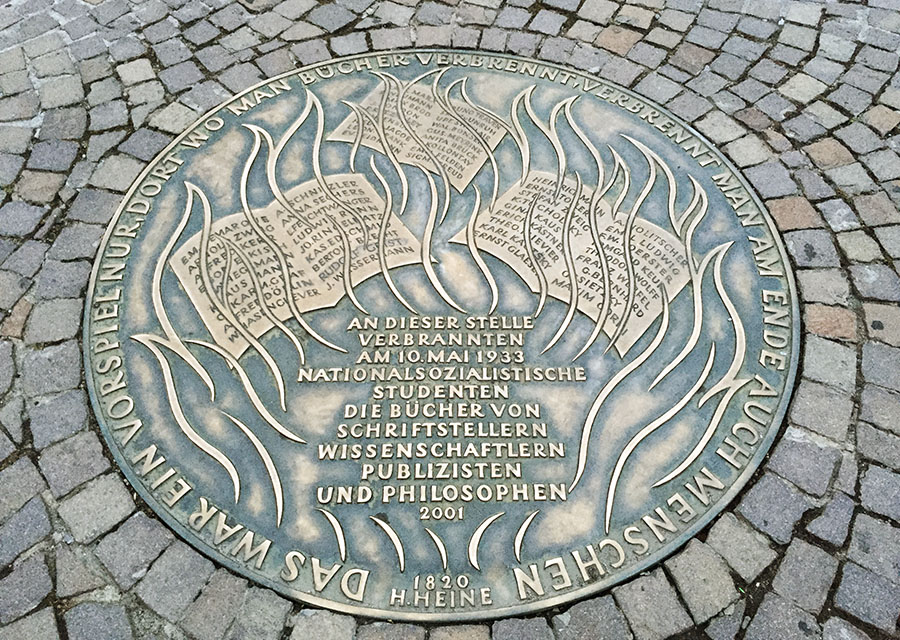 Memorial for book burning, Römerberg Square