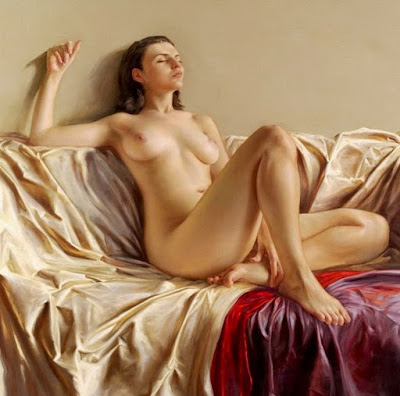 Pintura Desnudo Hiperrealista Mujer