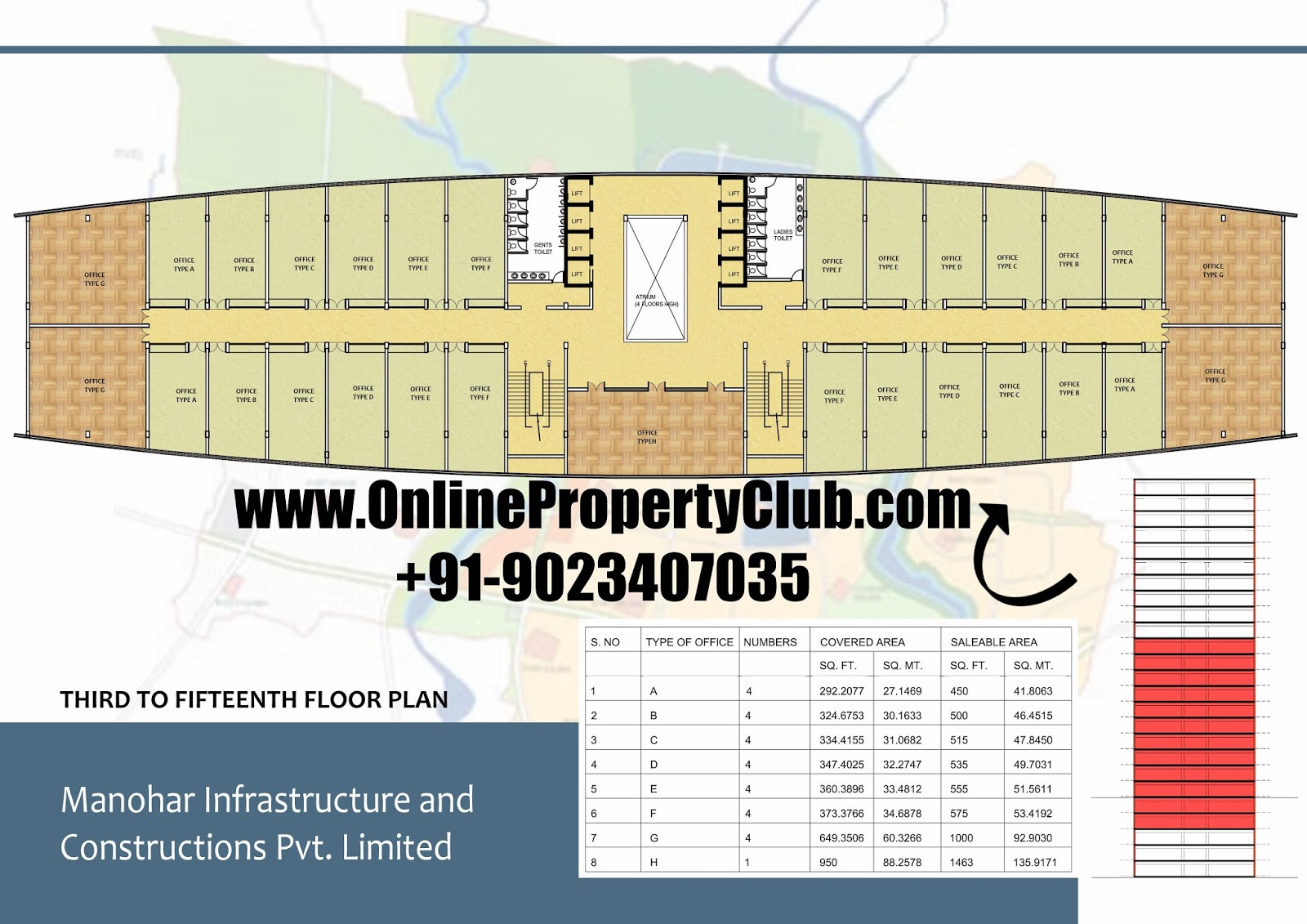 Palm Square Mullanpur Office Space Manohar Singh and Company
