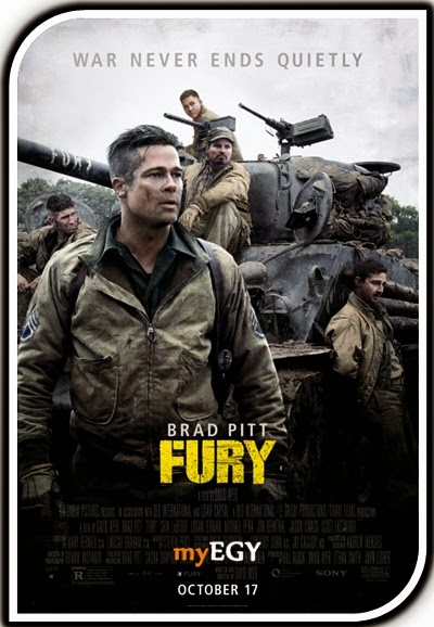 فيلم الحرب الرهيب Fury 2014 + Torrent من بطولة النجم Brad Pitt