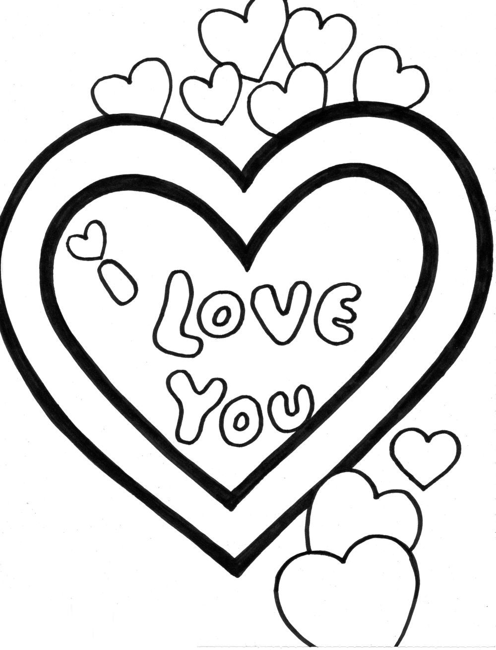 Coloring Pages I Love You : Quot i love you coloring pages gt disney