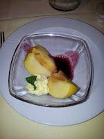manzanas con vino tinto