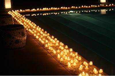 Dicas e Fotos de Decoração com Velas em Piscinas