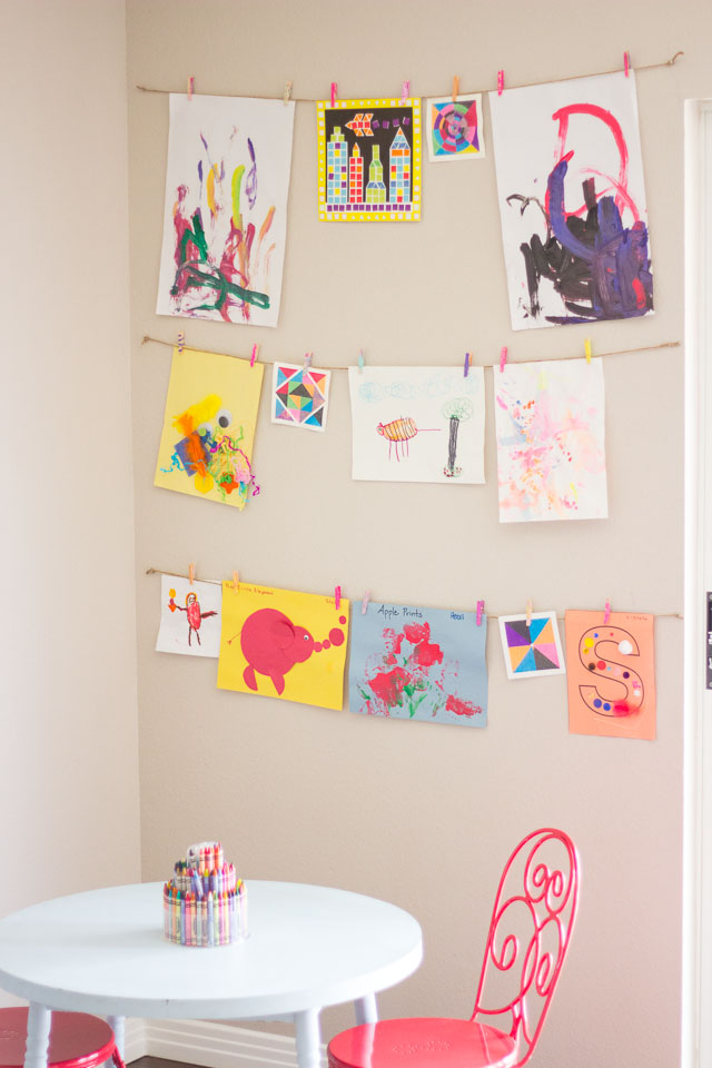 Wall Hanging Craft Ideas For Kids Part - 45: Displaying-kids-art