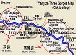 Yangtze Three Gorges Map