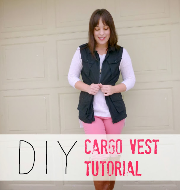 diy cargo vest sewing refashion and tutorial