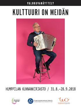 Kulttuuri on meidän -valokuvanäyttely Humppilan kunnankirjastossa 31.8-28.9.2018