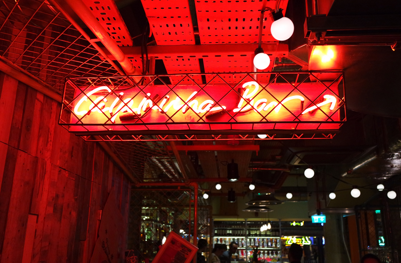 Cabana Restaurant Manchester Neon Sign Inside