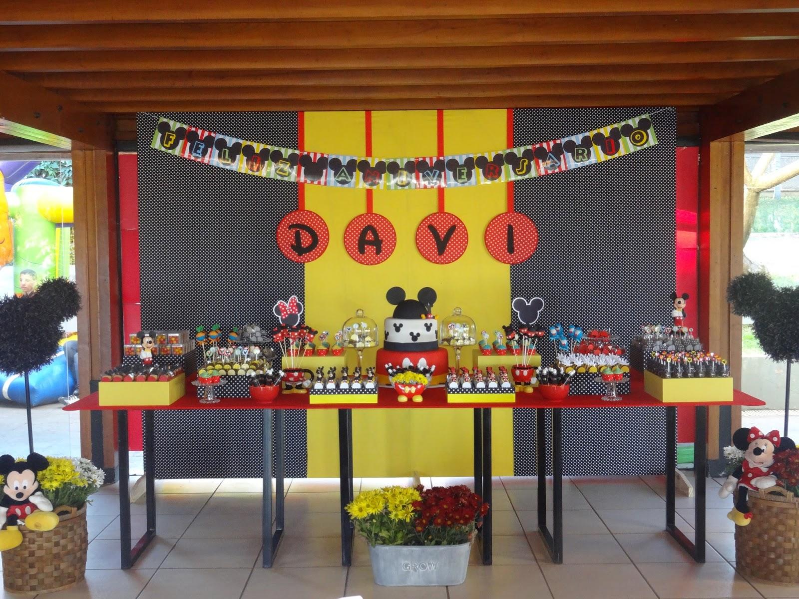 decoracao festa mickey : decoracao festa mickey:Festejar é tudo de bom!: Um ano do Davi! Festa do Mickey