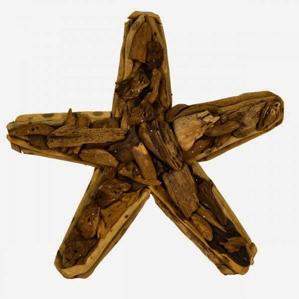 Estrellas de Navidad con Madera a la Deriva