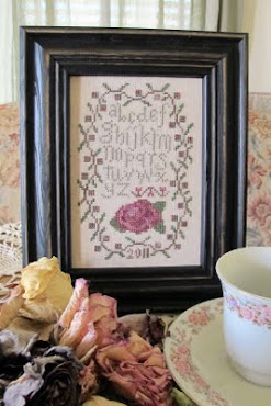 Antique Rose Sampler