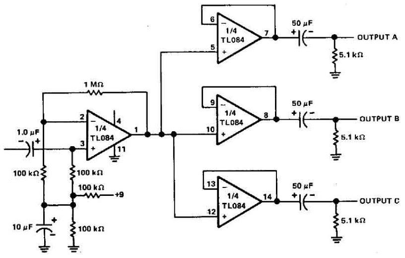 3+chanel+audio+splitter, Wiring schematic