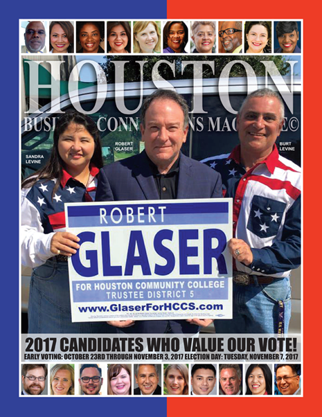 VOTE TUESDAY, NOVEMBER 7, 2017 EDITION OF HBC MAGAZINE© FEATURING ROBERT GLASER