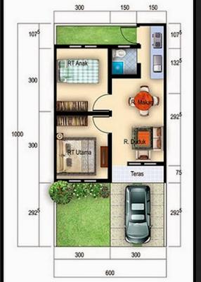 Sketsa rumah minimalis type 36