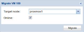 Live migration di Proxmox 2.3