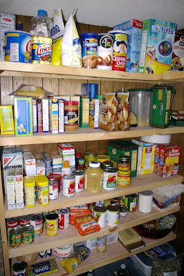 A beautifully organized and stocked pantry