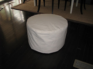 Thrift Store Ottoman Makeover {rainonatinroof.com} #thrift #ottoman #makeover