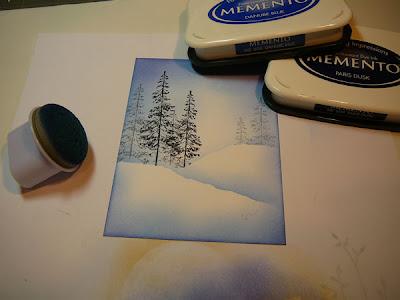 25 novembre - Comment faire un paysage d'hiver T6