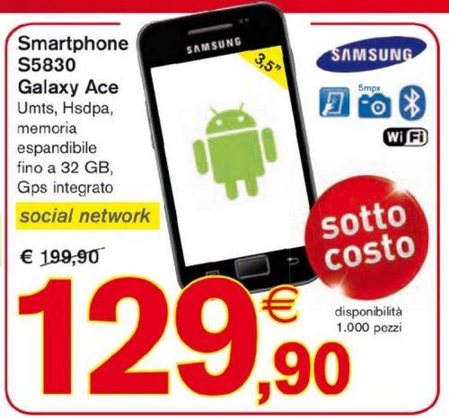 Miglior prezzo in assoluto nel 2013 per il Galaxy Ace smartphone di fascia bassa di Samsung