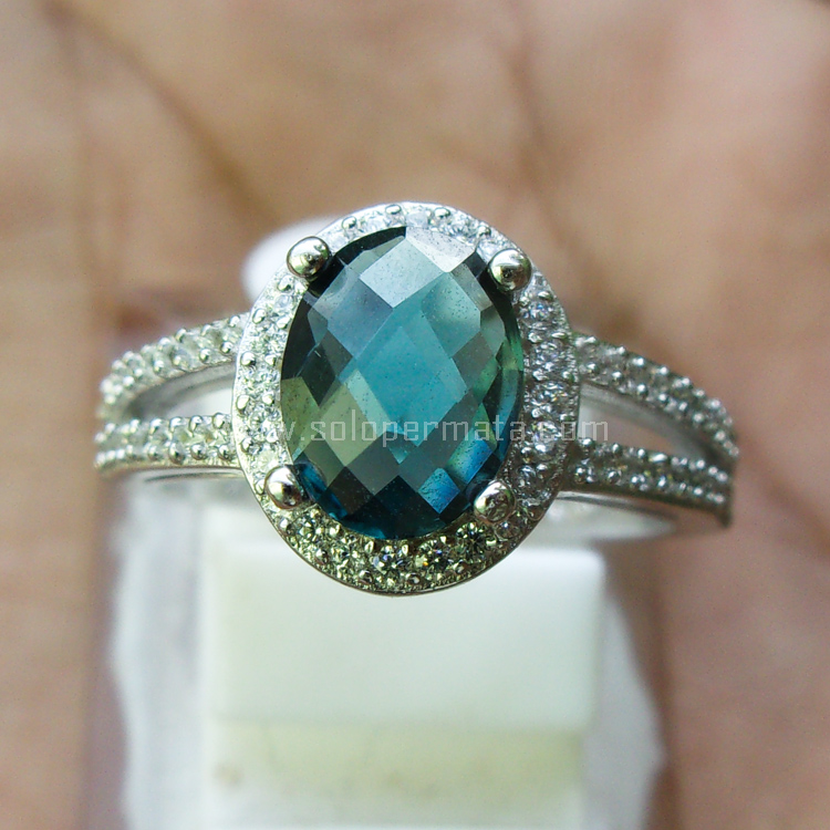 Cincin Batu Permata London Blue Topaz - SP697