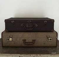 vintage suitcases rural events