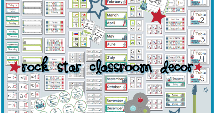 Rockstar Classroom Decor ~ Primary possibilities classroom themes part with a