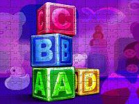 3d alphabet cubes