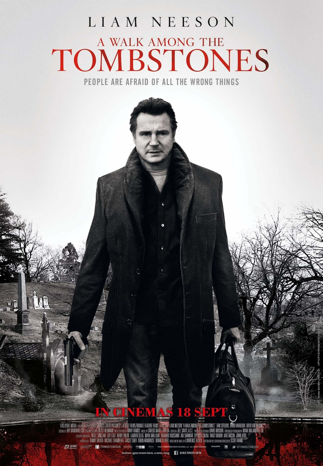 A Walk Among The Tombstones UK Postert