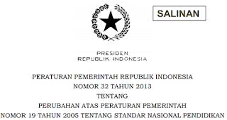 Standar Nasional Pendidikan | PP Nomor 32 Tahun 2013