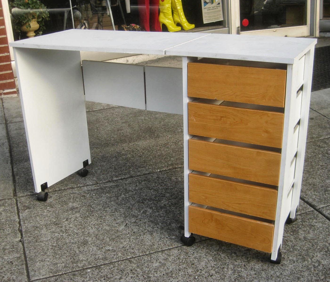 UHURU FURNITURE U0026 COLLECTIBLES: SOLD   Retractable Desk   $40