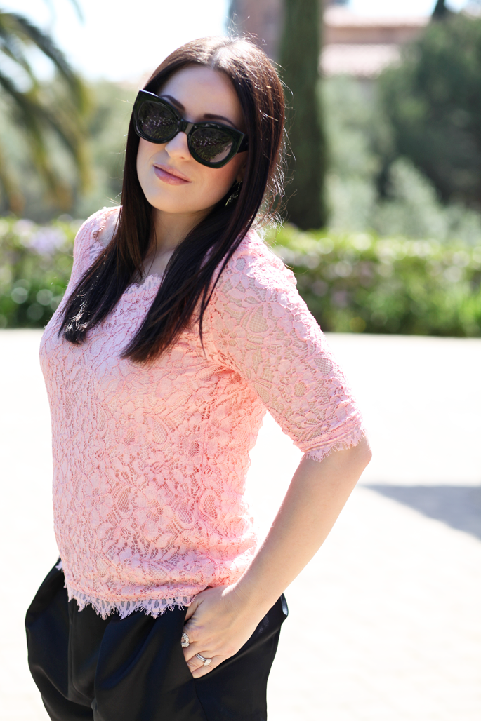 karen-walker-northern-lights-sunglasses-pink-lace-top-piperlime-nars-chihuahua-lipgloss-king-and-kind-spring-makeup-tildon-shorts