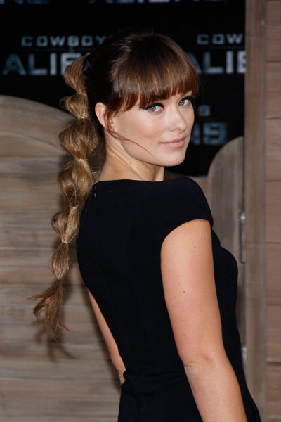 Meet Me On The Bright Side Olivia Wilde Inspired Edgy Pony Tail