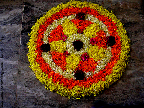 Onam Kerala Festivals Homes Houses Floral Flower Carpet Decorations