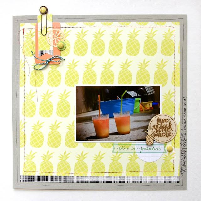 #pineapple #scrapbooking #layout #summer #pool #paradise
