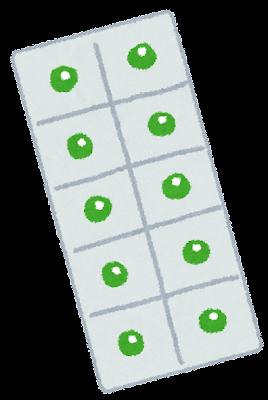 薬のイラスト「粒状の薬・セット」