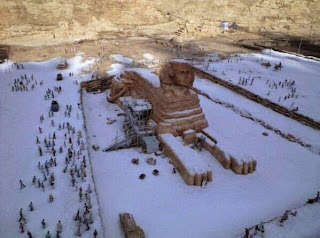 sphinx in snow