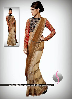 Indian Traditional Saree in New Fashion