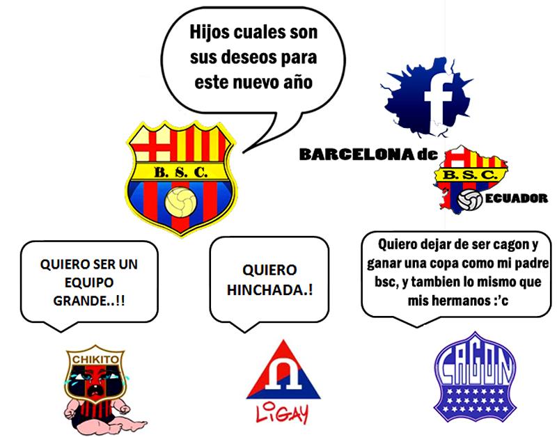 Imágenes graciosas del Barcelona y Real Madrid Sinplanes