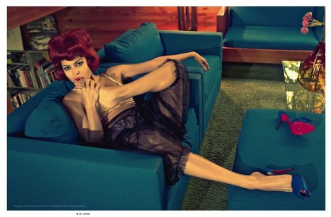 Eva Mendes by Steven Meisel in Vogue Italia