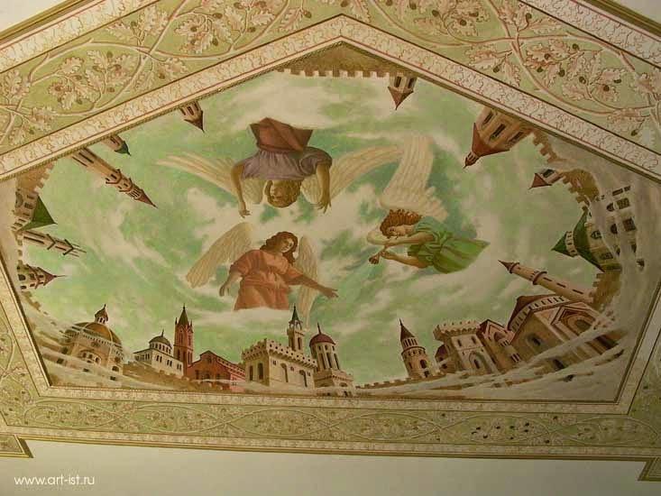 Heavenly Town Mural Ceiling Painting