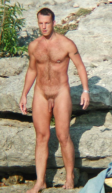 nude middle aged man