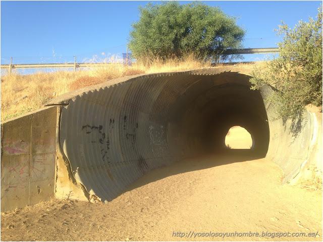 Túnel por debajo de la autovia