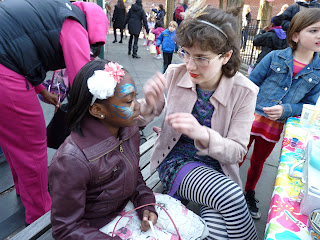 Photo face painting, by MK Metz. Pierrepont Playground, Brooklyn 2013