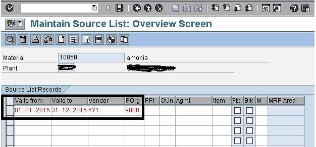 Sap Mm Source List In Sap Mm