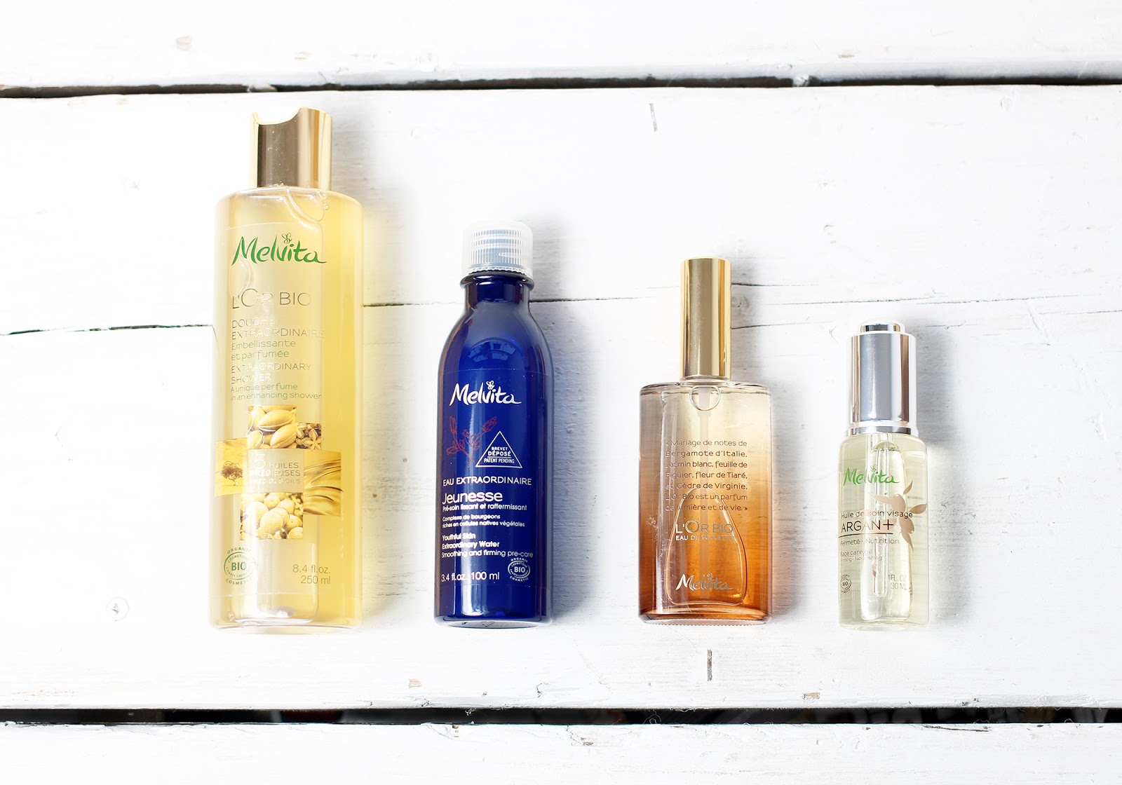 A beauty blogger reviews products from organic skincare brand Melvita