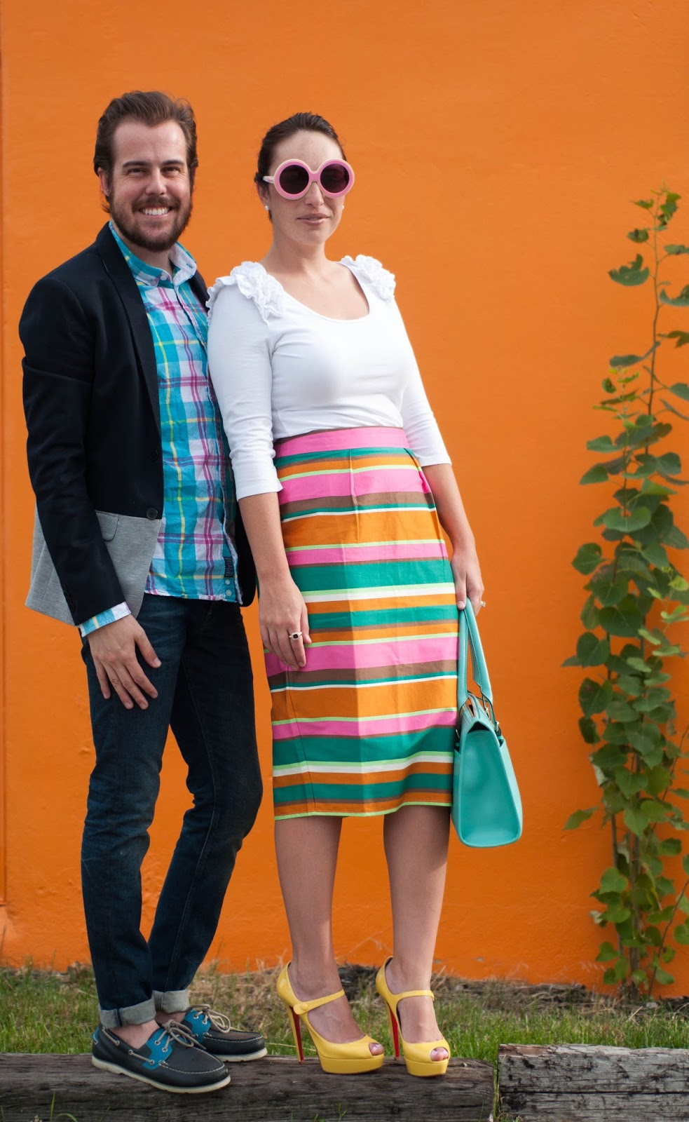 couples style, couples fashion, zara man, ootd, his and her fashion, pencil skirt, christian louboutin heels