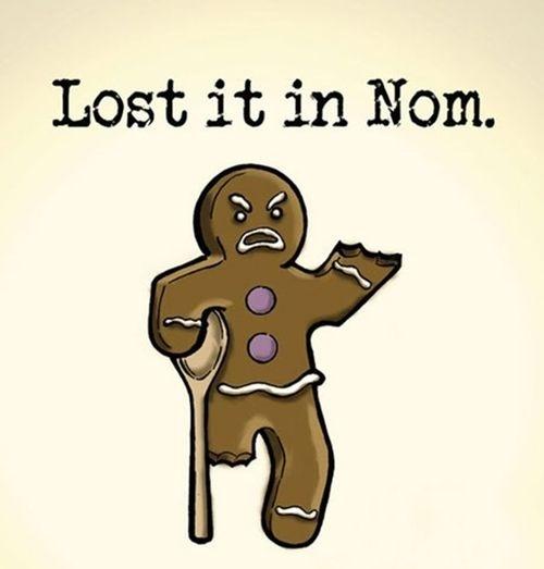 Funny Ginger-bread Man Cartoon - Lost It In Nom